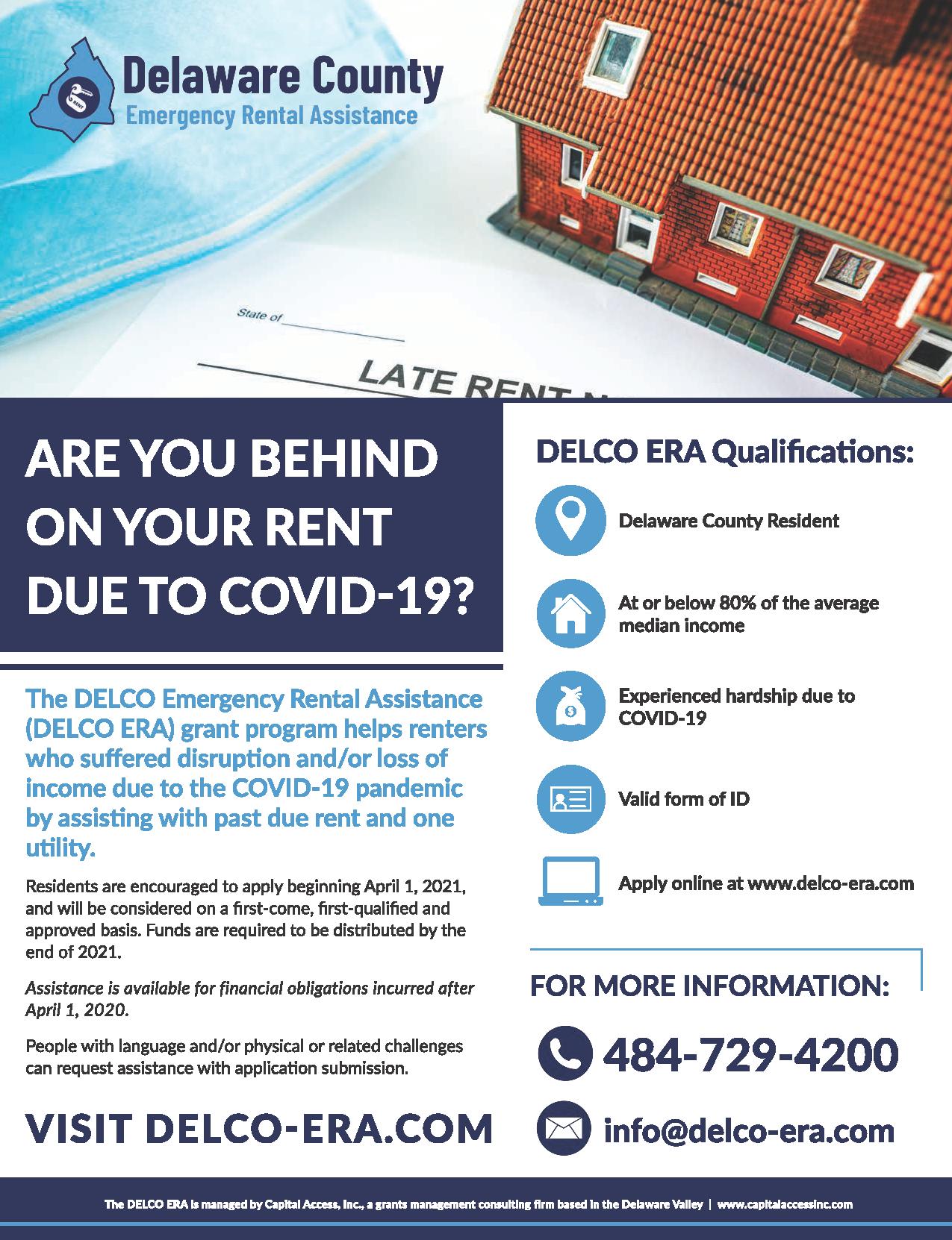 Delaware County Announces Emergency Rental Assistance Program Delaware County Pennsylvania